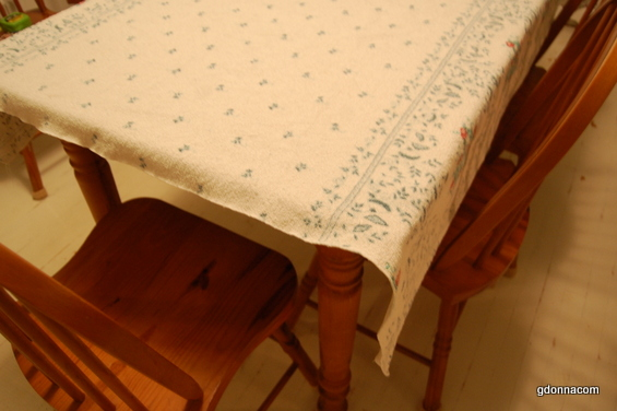 I Have Been Using This Cloth As It Is And Sometimes I Layer A White Cloth  That Is Longer Under This Tablecloth. As You Can See It Is Too Short.